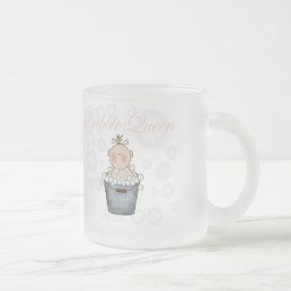 Reina de la burbuja taza de cristal