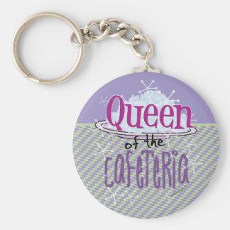 Reina de la cafetería - señora del almuerzo llavero redondo tipo pin