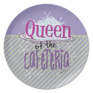 Reina de la cafetería - señora del almuerzo plato de cena