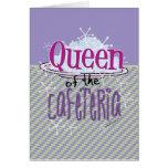 Reina de la cafetería - señora del almuerzo tarjeta de felicitación