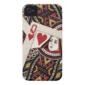 Reina de la caja de los corazones iPhone4/4S iPhone 4 Case-Mate Cobertura