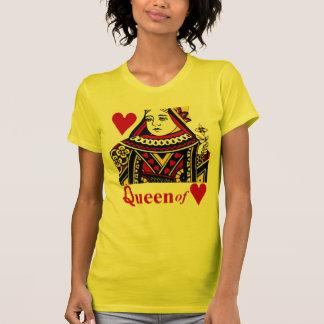 Reina de la camiseta de los corazones playera
