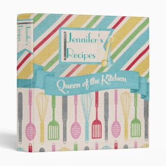 Reina de la carpeta de la receta de la cocina