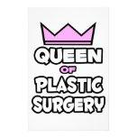 Reina de la cirugía plástica papeleria personalizada
