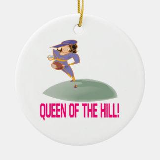 Reina de la colina ornamentos de navidad