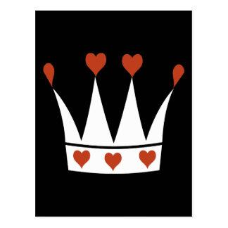 Reina de la corona de los corazones postales