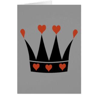 Reina de la corona de los corazones felicitaciones