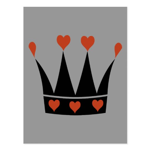 Reina de la corona de los corazones tarjetas postales