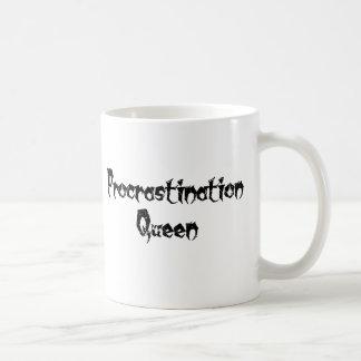 Reina de la dilación tazas de café