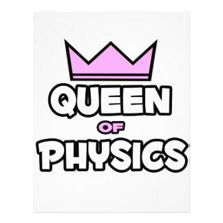 Reina de la física membretes personalizados