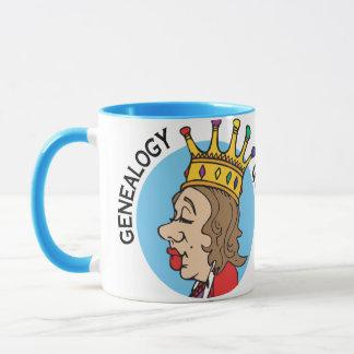 Reina de la genealogía taza