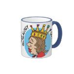Reina de la genealogía tazas de café