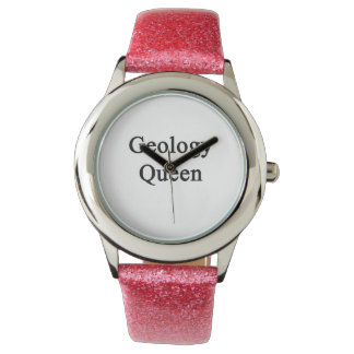 Reina de la geología reloj de mano