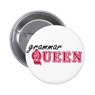 Reina de la gramática pin redondo 5 cm