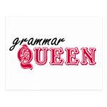 Reina de la gramática tarjetas postales