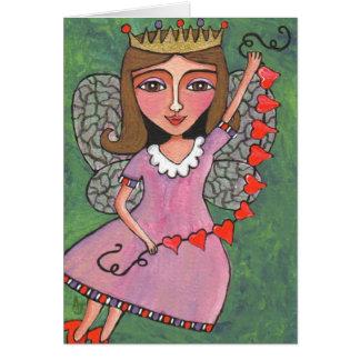 Reina de la hada de los corazones - tarjeta de fel