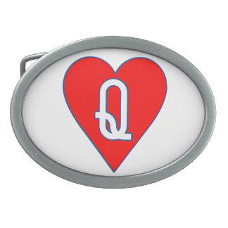 Reina de la hebilla del cinturón de los corazones hebilla de cinturon oval