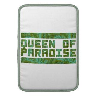 Reina de la impresión tropical del paraíso funda para macbook air