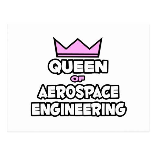 Reina de la ingeniería aeroespacial tarjeta postal