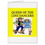 reina de la línea baile tarjeton
