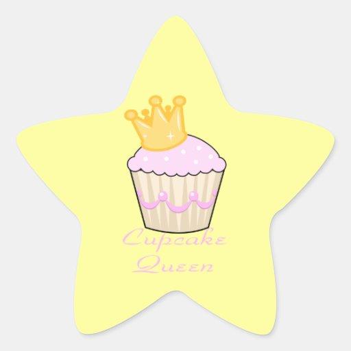 reina de la magdalena pegatinas forma de estrella