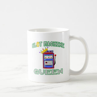 Reina de la máquina tragaperras taza de café