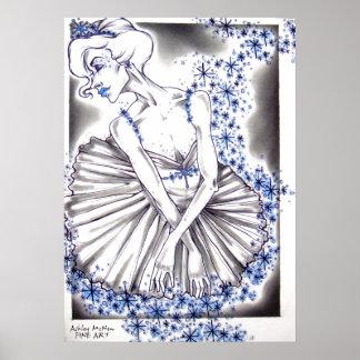 Reina de la nieve del ballet del cascanueces póster