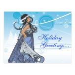 Reina de la nieve del día de fiesta tarjetas postales