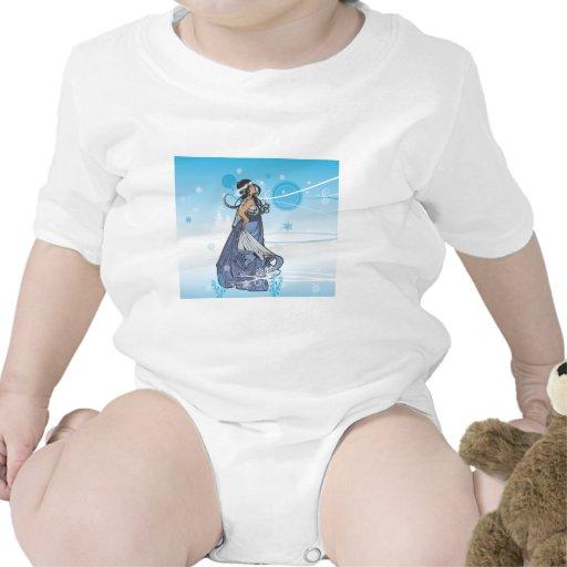 Reina de la nieve del día de fiesta trajes de bebé
