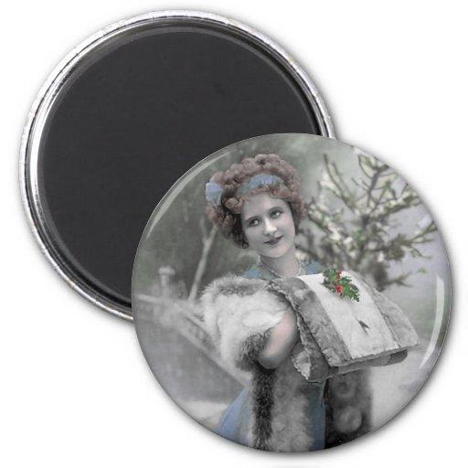Reina de la nieve - imán (personalizar)