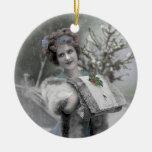 Reina de la nieve - ornamento (personalizar) ornaments para arbol de navidad