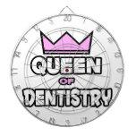 Reina de la odontología tablero de dardos