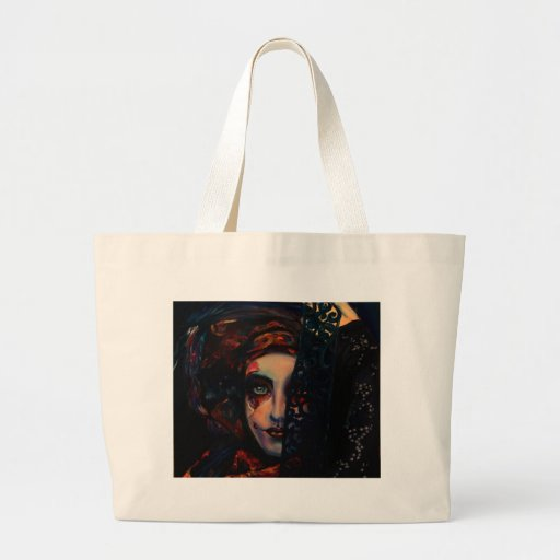Reina de la oscuridad bolsa tela grande