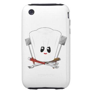 Reina de la parrilla - el gorra del cocinero y her iPhone 3 tough coberturas