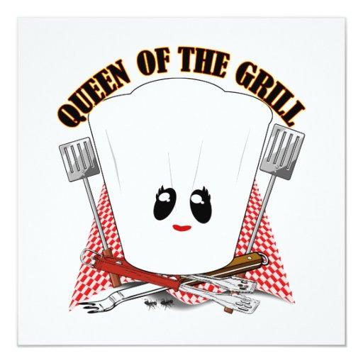 Reina de la parrilla - el gorra del cocinero y comunicado