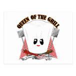 Reina de la parrilla - el gorra del cocinero y postal
