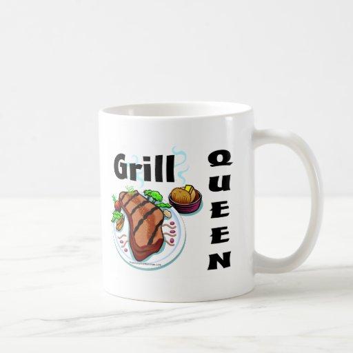 Reina de la parrilla tazas de café