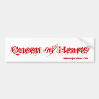 Reina de la pegatina para el parachoques de los co etiqueta de parachoque