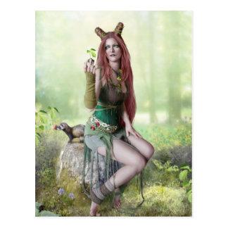 Reina de la postal de la primavera