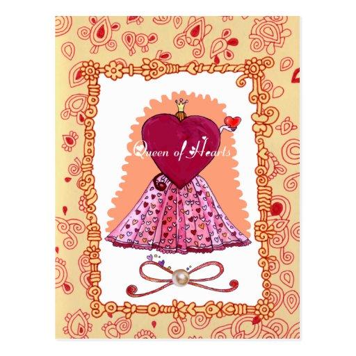 Reina de la postal de los corazones