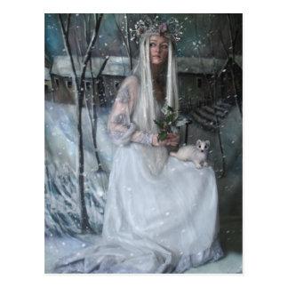 Reina de la postal del invierno