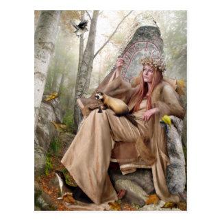 Reina de la postal del otoño