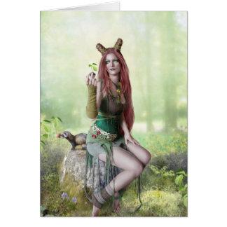 Reina de la primavera tarjeta de felicitación