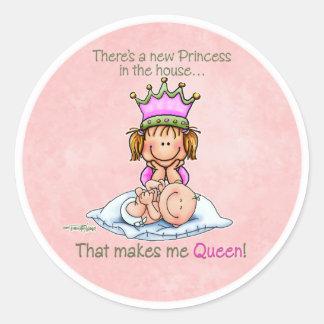 Reina de la princesa - pegatinas de la hermana gra
