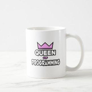 Reina de la programación tazas de café