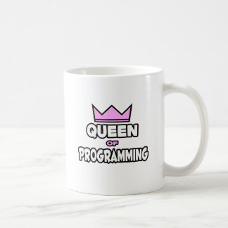 Reina de la programación taza de café