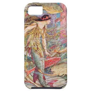 Reina de la sirena de los pescados iPhone 5 funda