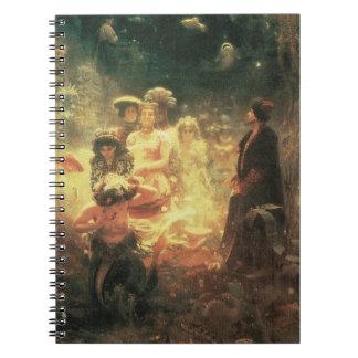 Reina de la sirena del vintage cuaderno