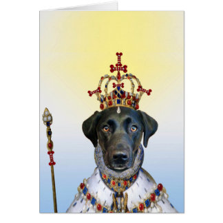 Reina de la tarjeta de felicitación de los
