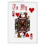 Reina de la tarjeta de los corazones